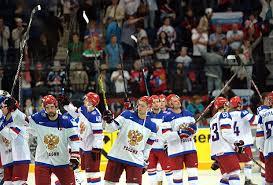 Путин с хоккеистами после победного матча