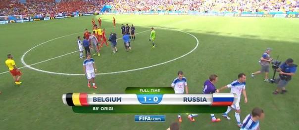Футбол. Матч Бельгия — Россия 1:0