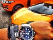 Дорогая машина, часы, понты