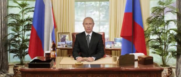 Опубликовано видео новогоднего обращения Владимира Путина