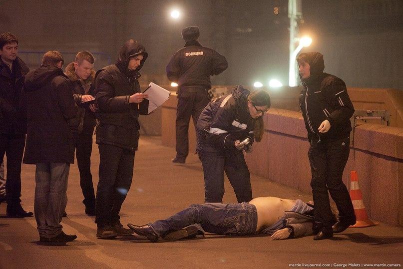 фото убийства с места Немцова
