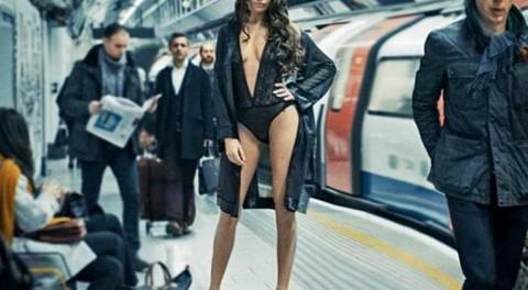 Белье в метро