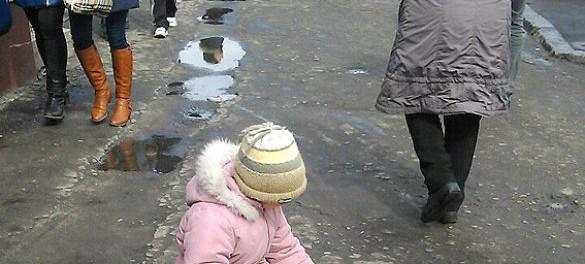 На Украине начали сажать за милостыну