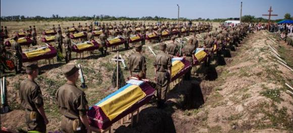 Под Запорожьем похоронили десятки безымянных солдат ВСУ