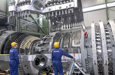 Компания Siemens наращивает поставки в Крым газтурбинного оборудования