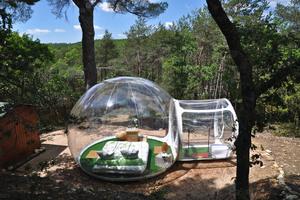 Прозрачном Rêves пузырь отель в Allauch, Франция