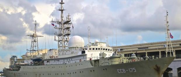 Русский корабль отключил все оборудование на военной базе США