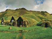 Сказочные дома в Скогаре, Исландия. Народный музей Скогара включает в себя различные виды жилья на протяжении веков