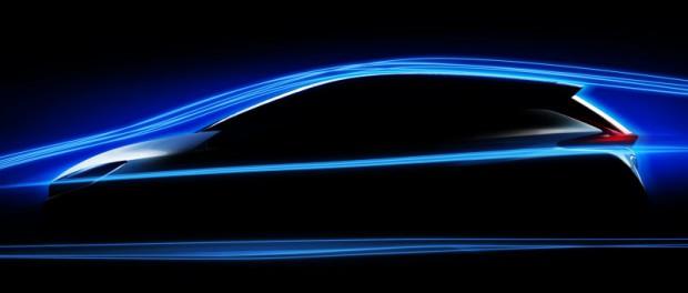 Новый электромобиль Ниссана будет супер гладким и обтекаемым.
