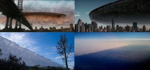 Огромный прозрачный объект накрыл половину неба над США