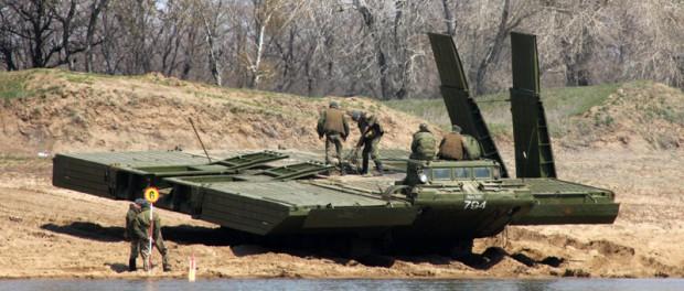 Паромно-мостовая машина ПММ-2