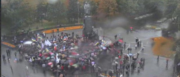 Саакашвили в ужасе сбежал с митинга в Харькове