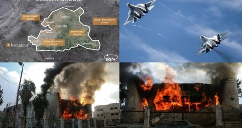 Четыре СУ-54 сравняли с землей восточную Гуту в Сирии