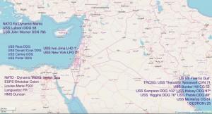 АУГ Нато Сирия карта