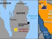 Карта америкаских баз на Ближнем Востоке