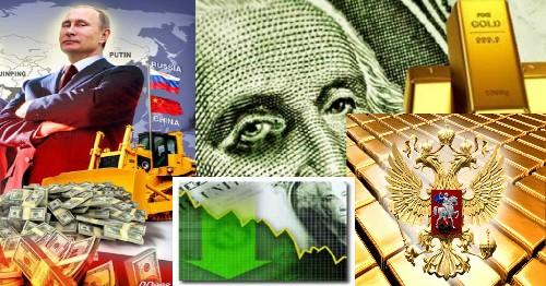 Россия копит золото и избавляется от ценных бумаг США