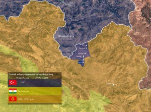 Карта Турции в Ираке
