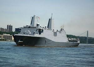 USS New York десантный американский корабль в Сирии