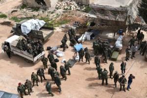 Военная полиция России переделана в городе Тель-Рифаат