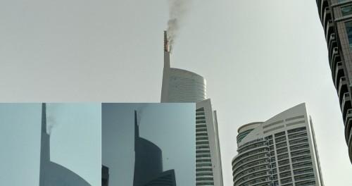 В Дубае кто-то поджог алмазную башню
