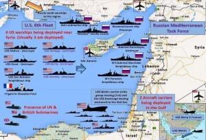 Военная карта кораблей в средиземной море