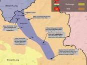 Военная карта наступления Турции в Ираке