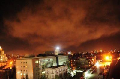 Видео ракетного удара по Сирии