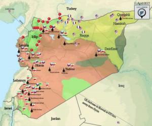 Сирия военная карта ракетных ударов США