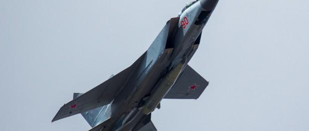 Замечен МИГ-31 с новой суперракетой «Кинжал»