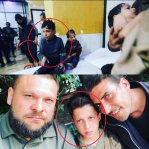 Мальчик, который участвовал в химической атаке  в Думе