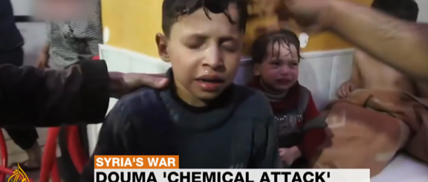 Мальчик участвовал в химической атаке в Думе за еду