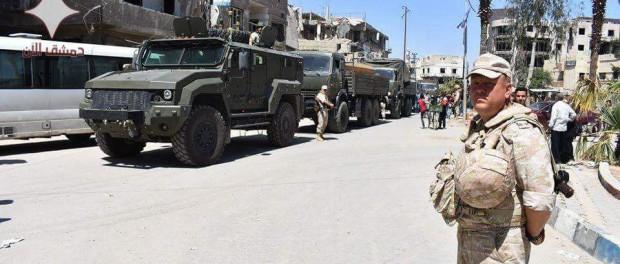 Русские войска в Думе (фото, видео)