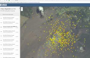 Карта подрывов Вулкана