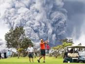 лава вулкана на гавайях