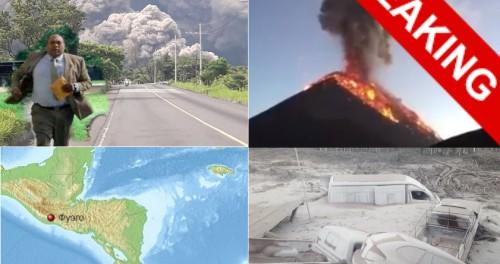 В Гватемале начал извержение вулкан Фуэго