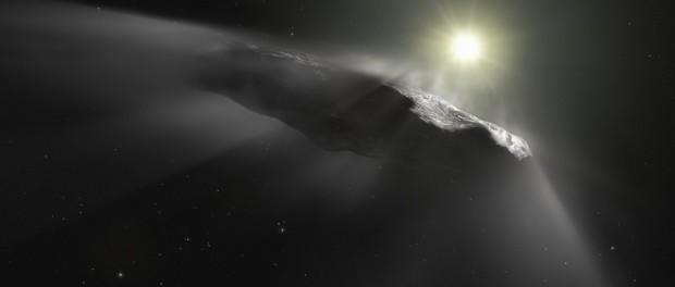 Первое видео загадочного астероида Oumuamua