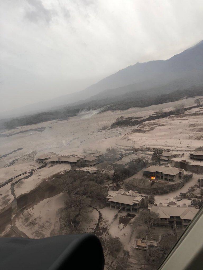 жертвы вулкана в Гватемала