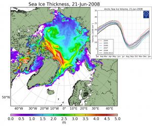 карта таяния льдов