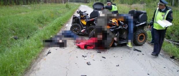 4 подростка погибли при столкновений квадрациклах в Верхней Сысерти