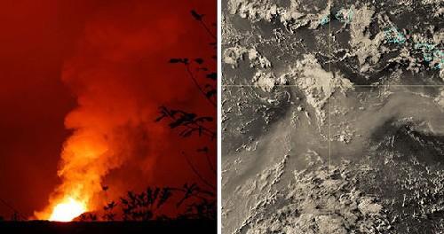 Гавайи: теперь вулканы завалили острова снегом