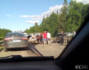 Трое детей и двое взрослых погибли на трассе Екатеринбург Пермь