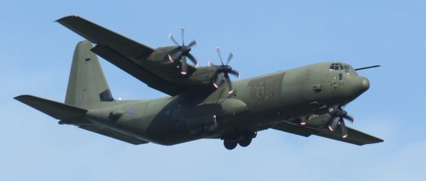 Британский военный самолет C-130J-30 Super в Сирии тоже падал