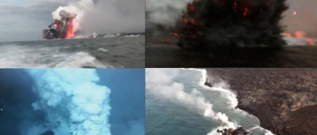 Гавайи, Килауэа сегодня: под водой вспыхнул новый вулкан