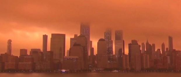 Кровавая Луна взошла над Нью-Йорком на сутки раньше