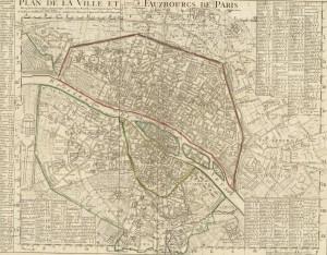 Париж план города 1720