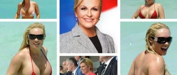 Матч Франция — Хорватия: президент Хорватии разделась