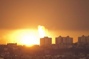 Сектор Газа после бомбежки Израиля