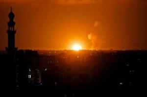 Сектор Газа после бомбежки