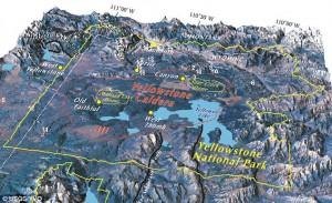 границы кальдеры супервулкана Йеллоустоун