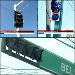 плавиться светофор в мексике от жары